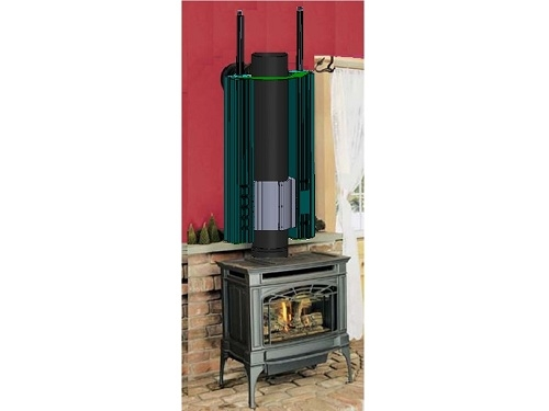 RABBITEARS 80WATT TEG GENERATOR - Wood Stove Thermoelectric Generator Rabbit Ear - Thermoelectric